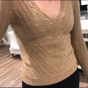 Ralph Lauren Cable Knit V Neck Sweater